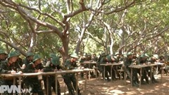 Thao trường xanh ở BCHQS tỉnh Gia Lai