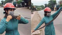Bắt gặp bé Na 2m trên đường, 'nữ ninja' ra tay cực nhanh khiến thiên hạ lóa mắt