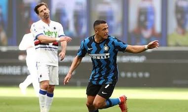 Sanchez tỏa sáng, Inter thắng Sampdoria 5-1