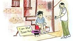 Cậu bé ăn xin mù bỗng liên tục được cho tiền vì một dòng chữ từ một người lạ, lý do là gì?