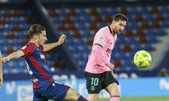 Bàn thua từ sai lầm của Messi, Barca bị chia điểm