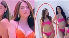Bạn gái Bùi Tiến Dũng vs Ngọc Trinh chung hình: Body ai nuột hơn khi diện bikini?