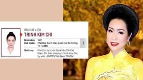 NSƯT Trịnh Kim Chi ứng cử Đại biểu HDDND TP.HCM
