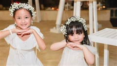 Con gái Hà Kiều Anh vui đùa cùng tiểu công chúa nhà 'Bà trùm Hoa hậu', dân mạng dự đoán toàn là mỹ nhân tương lai