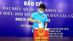 Xuân Trường, Văn Toàn, Công Phượng cùng đồng đội hào hứng đi bầu cử