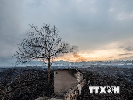 Ít nhất 13 người thiệt mạng do núi lửa phun trào tại CHDC Congo