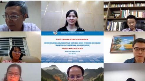 Nghiên cứu sinh đầu tiên bảo vệ luận án Tiến sĩ theo hình thức trực tuyến