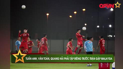 Tuấn Anh và Văn Toàn trở lại tập luyện, chuẩn bị cho trận đấu với Malaysia