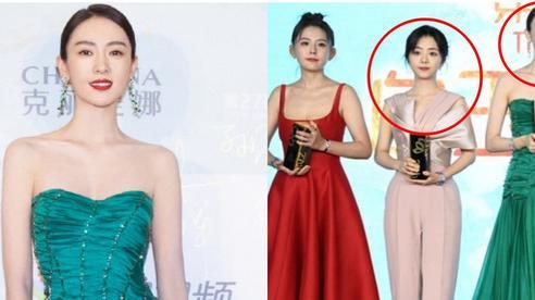 Bộ đầm xanh hở ngực sexy thế nào mà giúp Đồng Dao 'chặt tan nát' Đàm Tùng Vận ở tiệc hạng sang Bạch Ngọc Lan