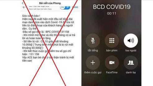 Bắc Ninh: Thông tin bị trừ tiền khi nhận cuộc gọi hiển thị 'BCD COVID19' là bịa đặt