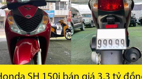 Honda SH 150i biển '999.99' 'hét' giá 3,3 tỷ đồng: Khi giá bán Mercedes-Benz, BMW, Audi cũng phải chào thua