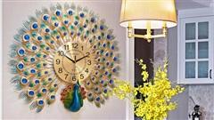 Đồng hồ con công - decor không gian sang trọng cho ngôi nhà bạn