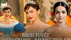 Tranh cãi khi so nhan sắc đối lập của 'Bạch Tuyết' cũ và mới hé lộ: Lily Collins mỹ miều tựa thần tiên, Rachel lại... bốc lửa hết cỡ lạ ghê?