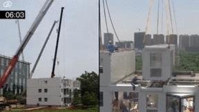 Trung Quốc: Cận cảnh xây nhà chung cư 10 tầng trong hơn 1 ngày