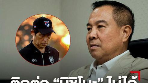 Trở về quê nhà sau vòng loại World Cup 2022, HLV Nishino bặt vô âm tín với LĐBĐ Thái Lan