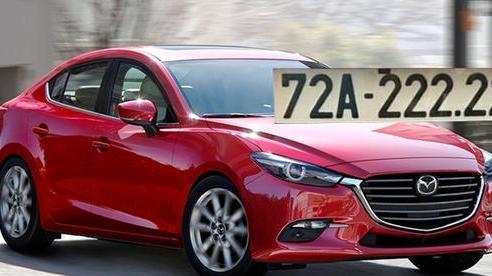 Dùng xe 4 năm, Mazda3 biển '222.22' vẫn được 'dân chơi' định giá 1,5 tỷ đồng