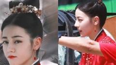 Full ảnh cận mặt cực đẹp của Địch Lệ Nhiệt Ba khi quay phim cùng Cung Tuấn, nhà gái vẫn là hợp nhất với màu đỏ