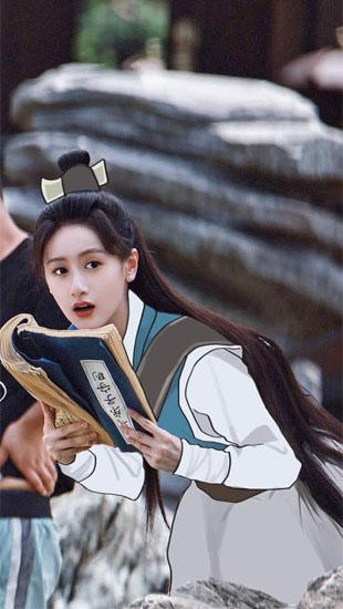 Rò rỉ tạo hình đúng chất nữ hiệp của Viên Băng Nghiên, đã bị che mất áo nhưng sự xinh đẹp đánh bật tất cả