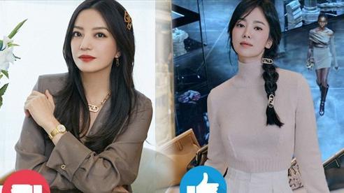 Song Hye Kyo thăng hạng nhan sắc nhờ kiểu tóc, cách dùng phụ kiện 'ăn đứt' Triệu Vy