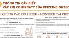 Thông tin cần biết khi tiêm chủng vắc xin Pfizer-BioNTech tại Việt Nam