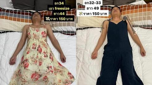 Vợ 'lợi dụng' chồng ngủ để bắt làm người mẫu, mặc từ váy đầm đến croptop để đăng bán online rồi viral khắp MXH