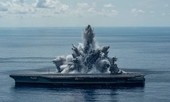 Clip hải quân Mỹ thử nghiệm vụ nổ 'chấn động' với siêu tàu sân bay mới
