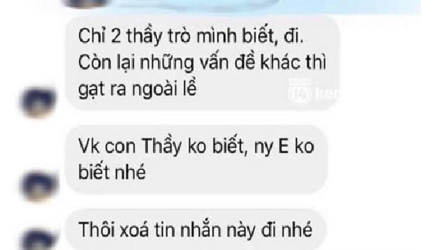 NÓNG: Thầy giáo cấp 3 bị nữ sinh tung loạt tin nhắn riêng tư tán tỉnh, quấy rối 'chỉ 2 thầy trò mình biết'