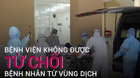 Hà Nội yêu cầu không được từ chối bệnh nhân từ vùng dịch