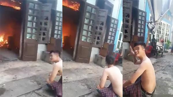 Clip: Bố qua đời, thanh niên châm lửa đốt mã luôn căn nhà thật mặc hàng xóm can ngăn