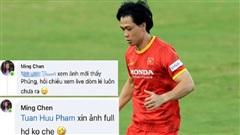 VFF phát trực tiếp buổi tập của tuyển Việt Nam, vợ Công Phượng đang ở cữ vẫn 'ngoi lên' tha thiết nhờ quay chồng mình