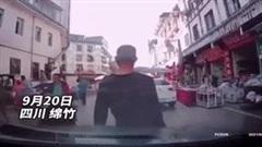 Đạp nhầm chân ga, tài xế ủi bay hàng loạt người đi bộ trên đường