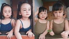 Cặp sinh đôi giống nhau như 2 giọt nước, xinh như diễn viên Hàn Quốc