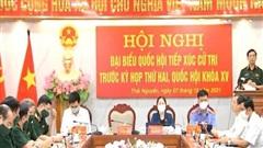 Bộ trưởng Phan Văn Giang tiếp xúc cử tri tỉnh Thái Nguyên