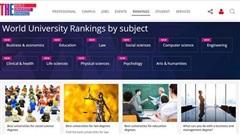 7 lĩnh vực của giáo dục đại học Việt Nam có tên trong bảng xếp hạng thế giới