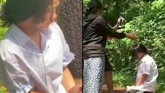 Nữ sinh lớp 7 ở Hà Tĩnh bị bắt quỳ gối, đánh đến chảy máu mũi