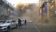 Nhà hàng nổ như bom, cột khói cao hàng trăm mét nghi do rò rỉ khí gas