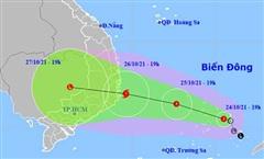 Áp thấp nhiệt đới khả năng thành bão hướng vào Bình Định đến Ninh Thuận