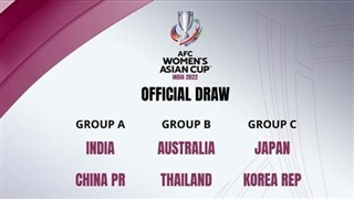 Bốc thăm VCK Giải bóng đá nữ châu Á 2022: ĐT Việt Nam rơi vào bảng đấu khó