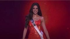 Khánh Vân 'chơi chiêu' diện đồ hợp mệnh tại bán kết Miss Universe 2020, toàn màu nổi bần bật chiếm spotlight