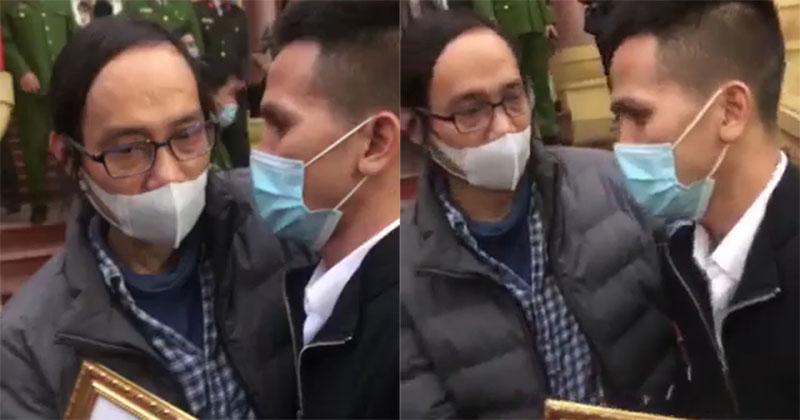 Xúc động hình ảnh 2 ông bố trong vụ 'bé gái rơi từ tầng 12' nghẹn ngào: Lời cảm ơn không thể diễn tả hết!