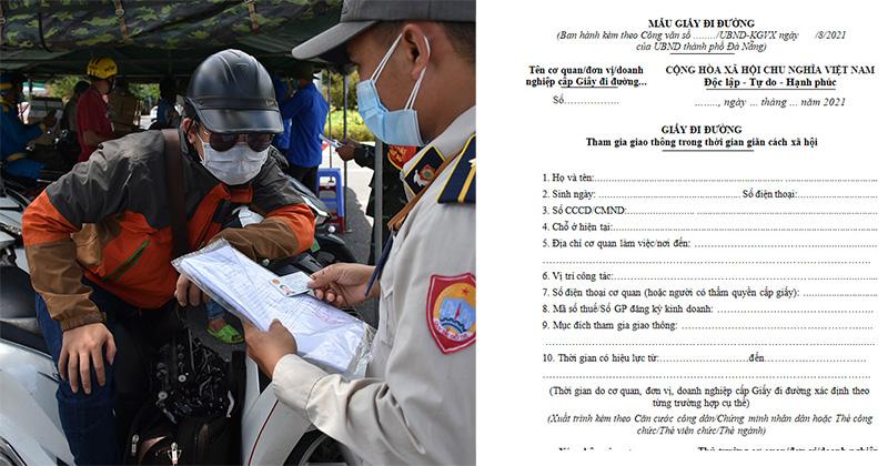 CHÍNH THỨC: Từ 12h ngày 6/8, trừ người làm ở cơ quan nhà nước, KCN, người lao động ở Đà Nẵng muốn ra đường phải có giấy đi đường do Phường, xã cấp