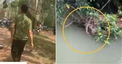 Hình ảnh hiện trường nơi tìm thấy thi thể nghi là bé trai 2 tuổi mất tích ở Bình Dương