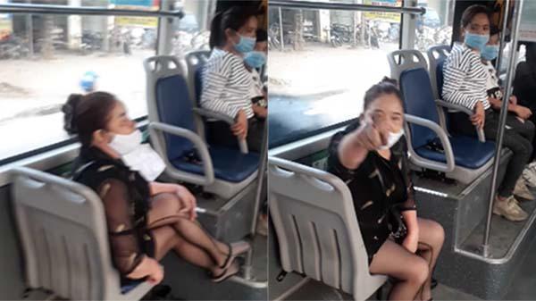 Clip: Bị mời xuống xe vì đeo khẩu trang không đúng cách, nữ khách hàng xe buýt: 'Tao không xuống, chúng mày đừng bắt nạt tao'