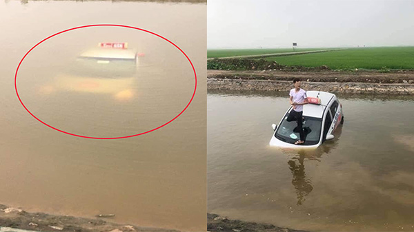 Đang ngồi câu cá thì phát hiện 'vật thể lạ' dưới lòng sông nổi lên, tưởng tàu ngầm hóa ra là... taxi