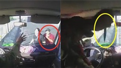 Clip: Tài xế xe tải bị lơ xe khách chặn đầu đấm túi bụi, cầm vật nhọn đâm liên tiếp vào người ngay trên cao tốc
