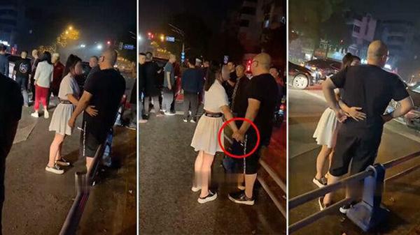 Clip: Va chạm với xe BMW đắt tiền, cô gái mặc váy ngắn đứng đong đưa với tài xế để tránh bồi thường