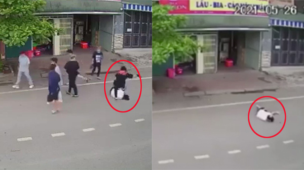 Clip: Nhóm 7 thanh niên đánh hội đồng dã man 1 nam sinh, bỏ mặc nạn nhân nằm bất động giữa đường
