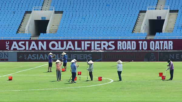 Cận cảnh sân vận động Mỹ Đình trước thềm trận đấu Việt Nam - Australia