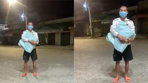 Clip: Cãi nhau với vợ, người đàn ông giận dỗi ôm quần áo đi bộ từ Đồng Nai về Vĩnh Long lúc giãn cách