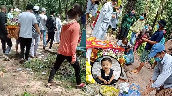 Clip đám tang bé trai 2 tuổi ở Bình Dương: Người thân khóc ngất, hàng xóm xót xa tiễn bé về nơi an nghỉ cuối cùng